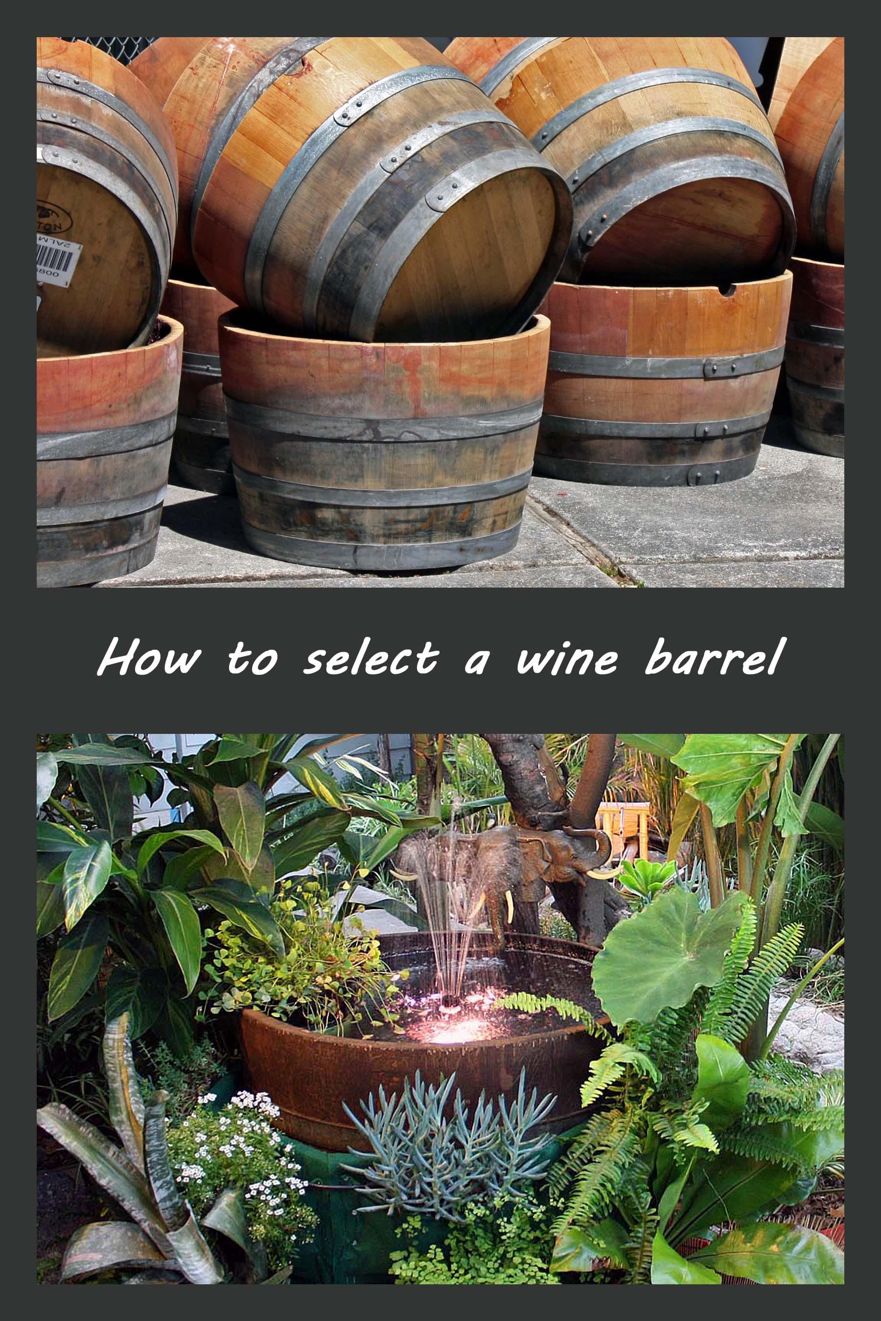 Wine barrel fountain jesse garden for Wine barrel fountain